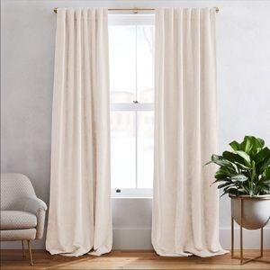 West elm cotton velvet curtain panel